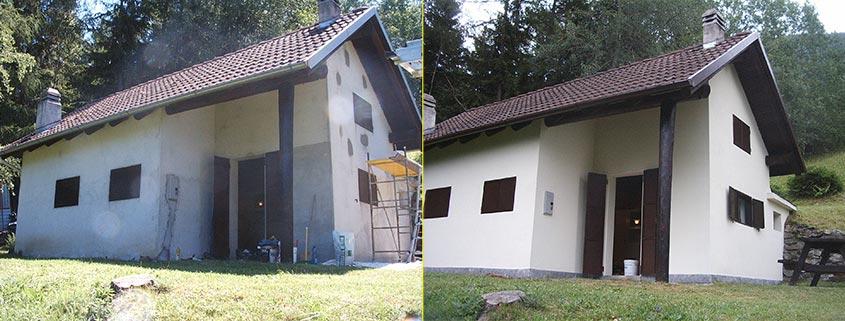 Ristrutturazione muratura esterna: prima e dopo