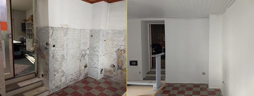 Ristrutturazione muratura interna: prima e dopo